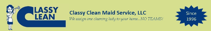 Classy Clean Maid Service Logo